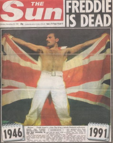 11 25 1991 The Sun Freddie Is Dead Queen Archives Interviews Articles Reviews